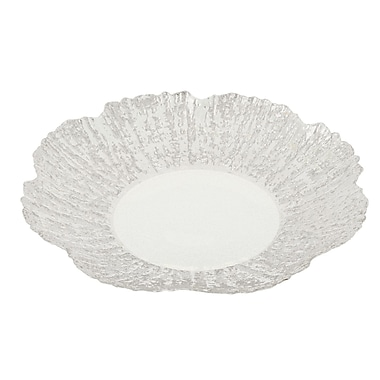 ClassicTouch Trophy Scalloped Platter; Silver