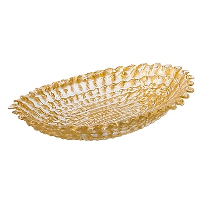 ClassicTouch Trophy Beveled Serving Bowl; 2.5'' H x 6.25'' W x 9.75'' D