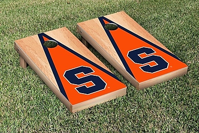 Victory Tailgate NCAA Hardcourt Triangle Version Cornhole Game Set; Syracuse Orange