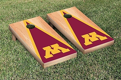 Victory Tailgate NCAA Hardcourt Triangle Version Cornhole Game Set; Minnesota Golden Gophers