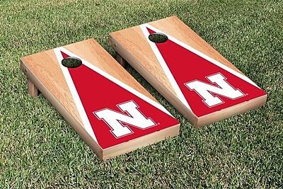 Victory Tailgate NCAA Hardcourt Triangle Version Cornhole Game Set; Nebraska Cornhuskers