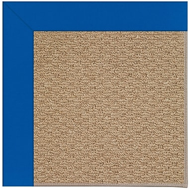 Capel Zoe Machine Woven Blue/Brown Indoor/Outdoor Area Rug; Rectangle 9' x 12'