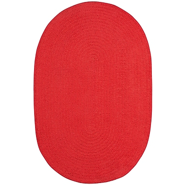 Capel Custom Classics Braided Red Area Rug; Oval 2' x 3'