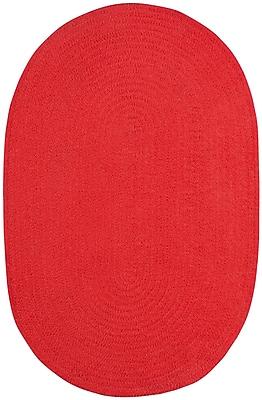 Capel Custom Classics Braided Red Area Rug; Oval 4' x 6'
