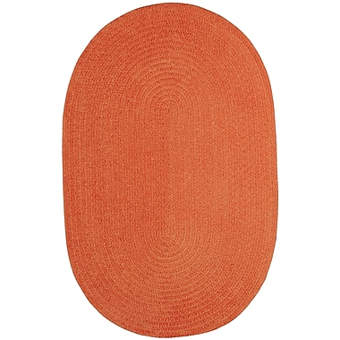 Capel Custom Classics Braided Cantaloupe Area Rug; Oval 2' x 3'
