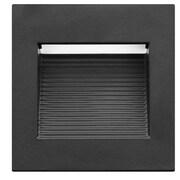 NICOR Lighting 3.2'' Square 1-Light Step Light; Black