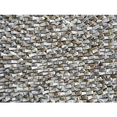 Modern Rugs Cobblestone Gray Area Rug; Round 8'