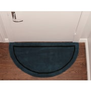 Deluxe Comfort Henley Striped Border Doormat; Blue