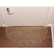 Deluxe Comfort Henley Striped Border Doormat; Camel