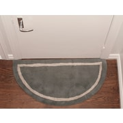 Deluxe Comfort Henley Striped Border Doormat; Grey