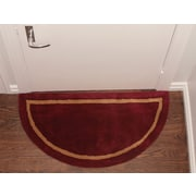 Deluxe Comfort Henley Striped Border Doormat; Red