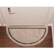 Deluxe Comfort Henley Striped Border Doormat; Silver