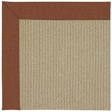 Capel Zoe Machine Tufted Brown/Beige Indoor/Outdoor Area Rug; Square 10'