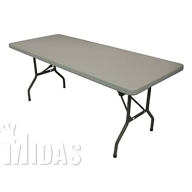 Midas Event Supply Elite Rectangular Folding Table; 30'' H x 96'' W x 29'' D