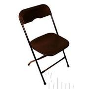 Midas Event Supply Champ Folding Chair; Black