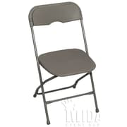 Midas Event Supply Champ Folding Chair; Light Gray