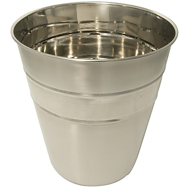 LCM Home Fashions, Inc. Stainless Steel Waste Basket