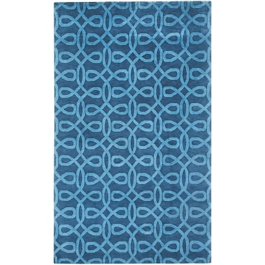 Capel Cococozy Symphonic Hand Knotted Midnight Blue Area Rug; 8' x 11'