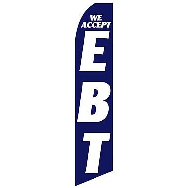NeoPlex We Accept EBT Swooper Flag