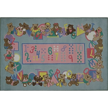 Fun Rugs Supreme Teddies and Letters Grey Area Rug