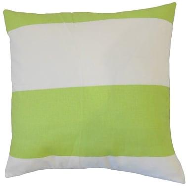 The Pillow Collection Yank Stripes Cotton Throw Pillow; 18'' x 18''
