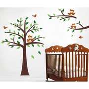 Pop Decors Nursery Tree and Owls Wall Mural