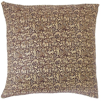 The Pillow Collection Fraley Graphic Cotton Throw Pillow; 20'' x 20''
