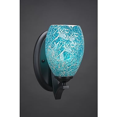 Toltec Lighting Zilo 1-Light Wall Sconce; Turquoise