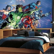 Room Mates Justice League Chair Rail Prepasted Wall Mural