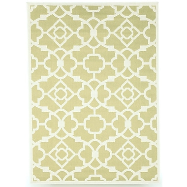 BudgeIndustries Monaco Sage Green Indoor/Outdoor Area Rug; 8' x 10'