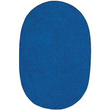 Capel Custom Classics Braided Royal Blue Area Rug; Oval 7' x 9'