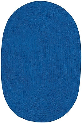 Capel Custom Classics Braided Royal Blue Area Rug; Oval 8' x 11'