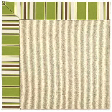 Capel Zoe Machine Tufted Green/Brown Indoor/Outdoor Area Rug; Square 6'