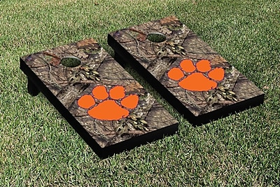 Victory Tailgate NCAA Mossy Oak Version Cornhole Game Set; Clemson Tigers