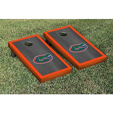 Victory Tailgate NCAA Florida UF Gators Version 1 Cornhole Game Set; Onyx / Orange