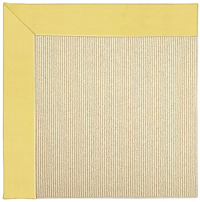 Capel Zoe Machine Tufted Yellow/Beige Indoor/Outdoor Area Rug; Square 8'