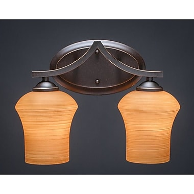 Toltec Lighting Zilo 2-Light Vanity Light; Cayenne