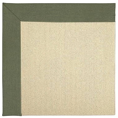 Capel Zoe Machine Tufted Plant Green Indoor/Outdoor Area Rug; Square 8'