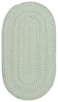 Capel Vivid Braided Eggshell Area Rug; Oval 1'8'' x 2'6''