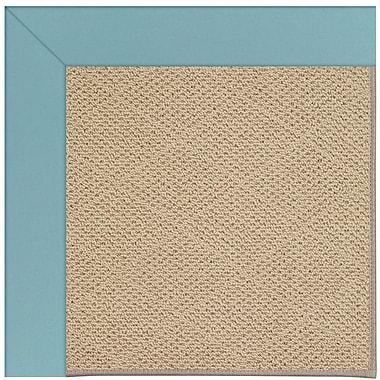 Capel Zoe Machine Tufted Bright Blue/Brown Indoor/Outdoor Area Rug; Rectangle 5' x 8'