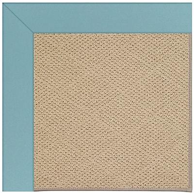Capel Zoe Machine Tufted Bright Blue/Brown Indoor/Outdoor Area Rug; Rectangle 2' x 3'