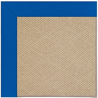 Capel Zoe Machine Tufted Reef Blue/Brown Indoor/Outdoor Area Rug; Square 8'