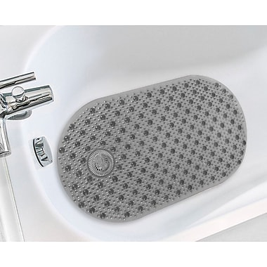 Sweet Home Collection Bubble Bathtub Mat; Gray