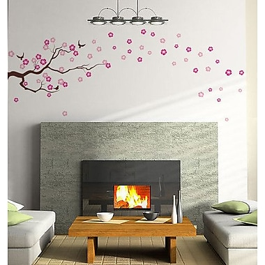 Pop Decors Drifting Cherry Blossom for Baby Nursery Wall Decal; Lilac