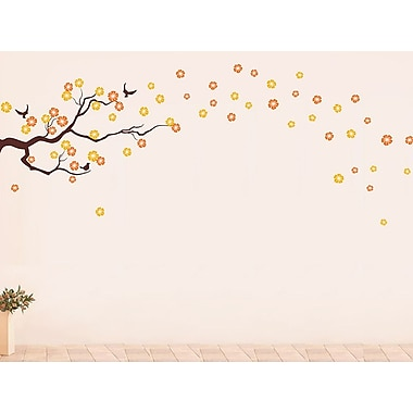 Pop Decors Drifting Cherry Blossom for Baby Nursery Wall Decal; Orange