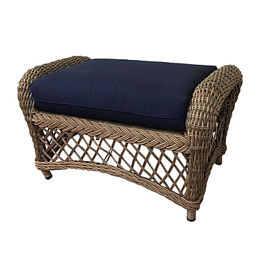 ElanaMar Designs Charleston Ottoman w/ Cushion