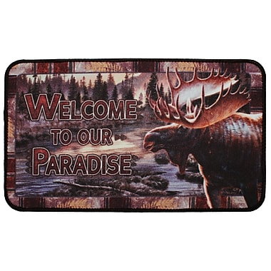 Rivers Edge Welcome Moose Doormat