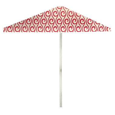 Best of Times 8.5' Square Market Umbrella; Peppermint/Cream