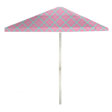 Best of Times 8.5' Square Market Umbrella; Teal/Pink