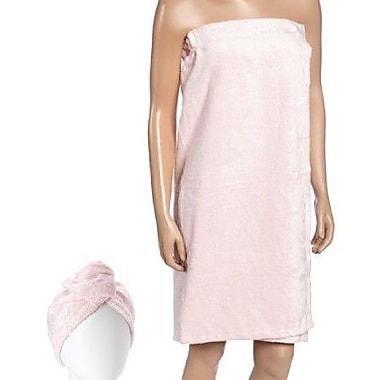 Fabbrica Home Turban Bath Wrap and Hair Set; Pink